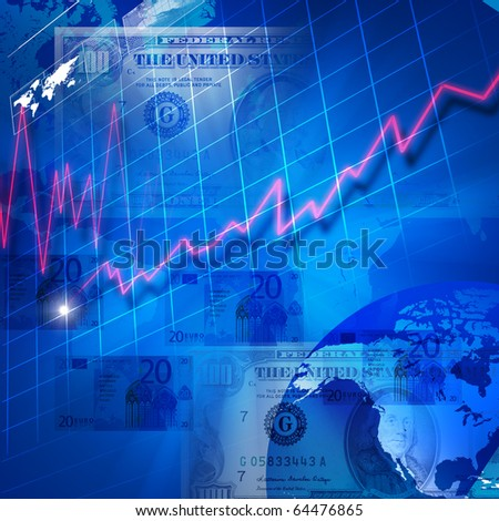 Abstract background with business elements. Symbol of a successful business