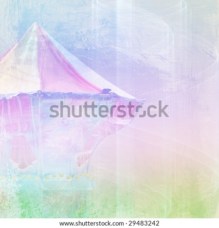 abstract background with carousel - stock photo