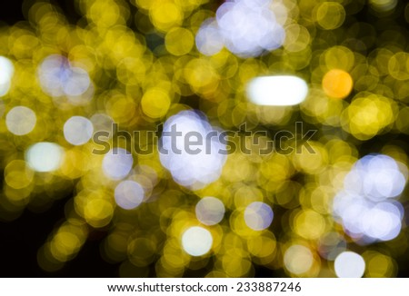 Abstract background with Christmas lights - stock photo