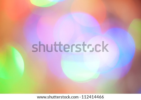 Abstract background with color light circles - stock photo
