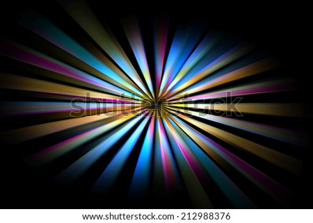 Abstract background with colored lines in center