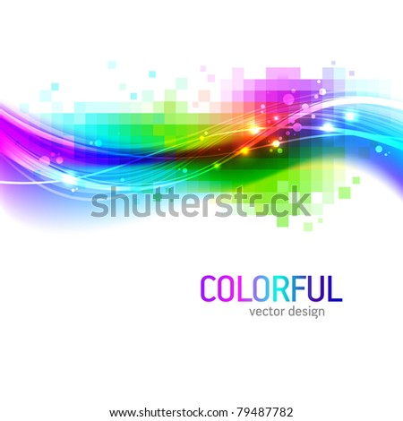 Abstract background with colorful wave - stock photo