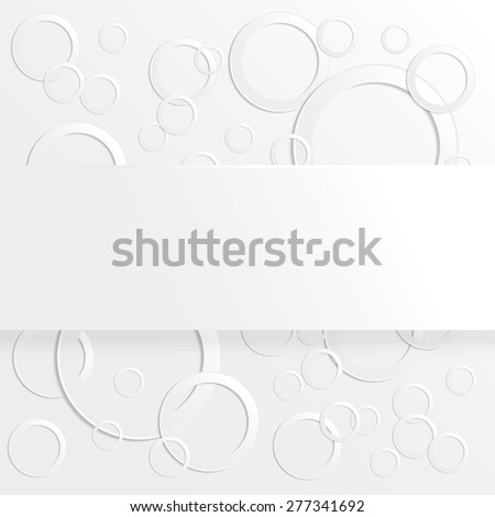 Abstract background with 3D paper circles with place for text. raster version illustration. - stock photo