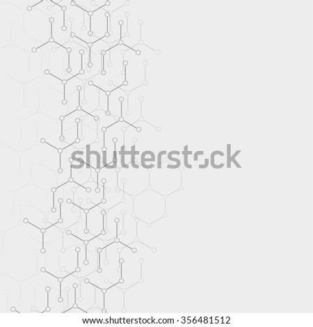 Abstract background with DNA molecule structure. genetic and chemical compounds - stock photo