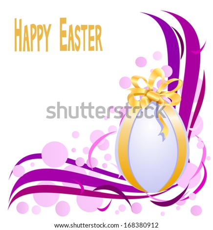 Abstract background with easter eggs - stock photo