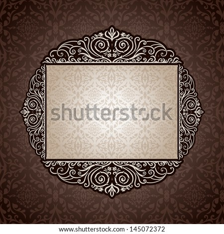Abstract background with exclusive, antique, luxury vintage, silver frame, creative ornamental banner; damask, graphic ornaments, invitation card, antique, style booklet, pattern template for design
