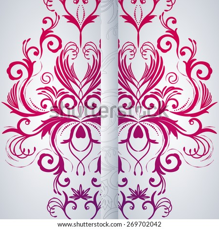 Abstract background with floral item. - stock photo