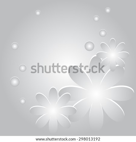 Abstract background with flowers and circles  - stock photo