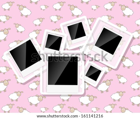 Abstract background with frames  illustration