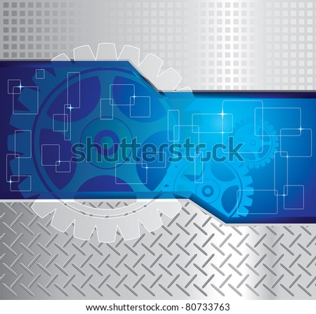 Abstract background with gear. - stock photo
