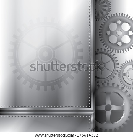 Abstract background with gears - stock photo