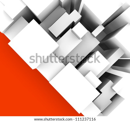 abstract background with geometric objects in vertical - stock photo