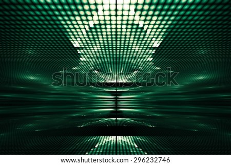 Abstract background with geometric patterns, translucent with unusual highlights - stock photo