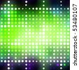 Abstract background with glowing green circles and colorful accents. - stock photo