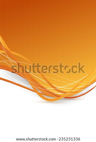 Abstract background with golden waves. illustration