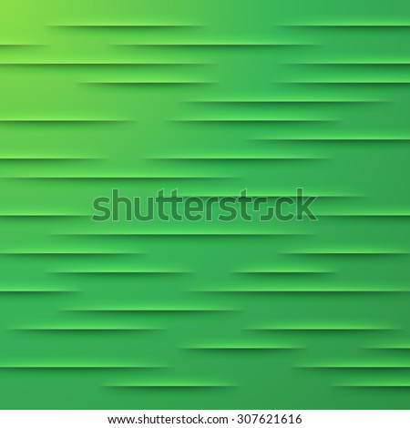 Abstract background with green cut paper layers - stock photo