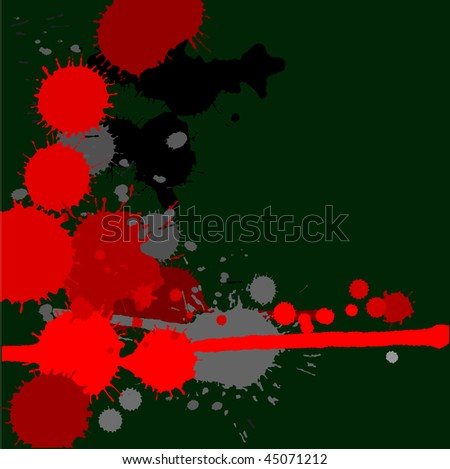 abstract background with ink splashes - stock photo