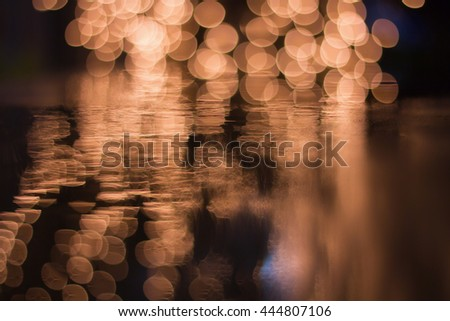 Abstract background with Light Bokeh ,Abstract Light Background  - stock photo