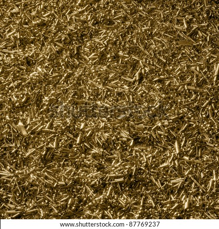 abstract background with lots of metallic swarf - stock photo