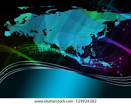 Abstract background with map - stock photo