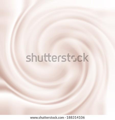 Abstract background with milk cream swirl texture - stock photo