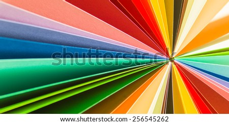 abstract background with multicolored paper - stock photo