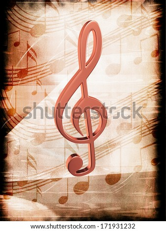 Abstract background with notes - stock photo