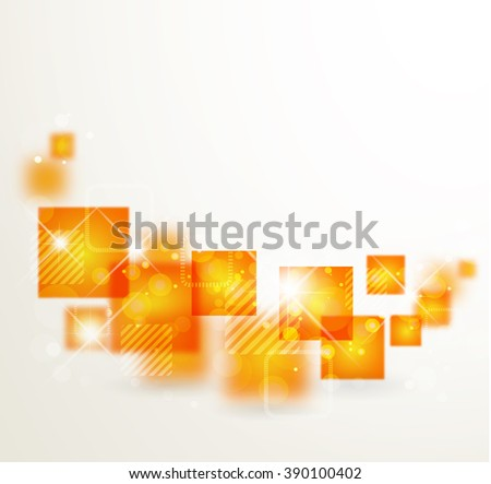 Abstract  background with orange stylized geometric  abstraction - stock photo