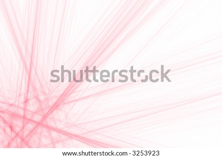Abstract background with red and white rays over white - stock photo