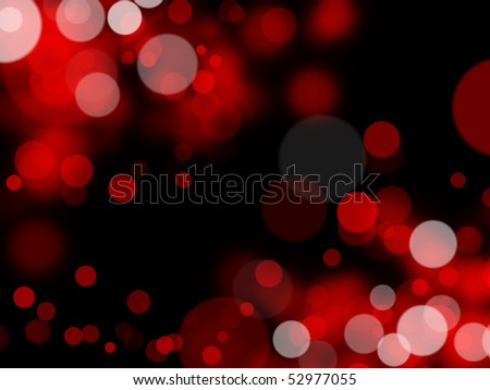 abstract background with red blur lights - stock photo