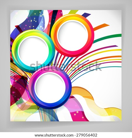 abstract background with round frames.