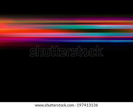 Abstract background with rushing blurred motion lights or lines - stock photo