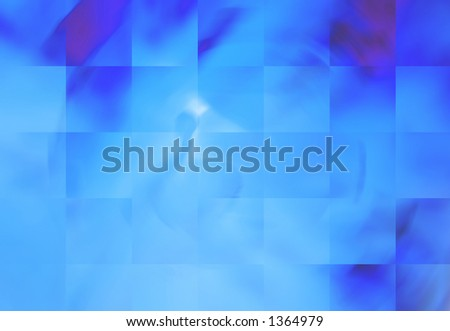 Abstract Background with Shades of Blue Squares