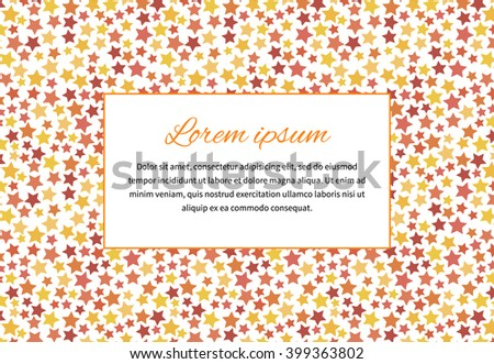 Abstract background with stars and text space, a4 size horizontal illustration - stock photo