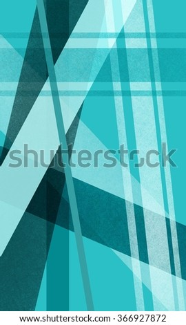 abstract background with stripes and line decorations in random pattern, geometric background design in bright blue green colors - stock photo