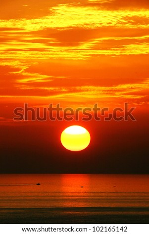 abstract background with the sunset on it - stock photo