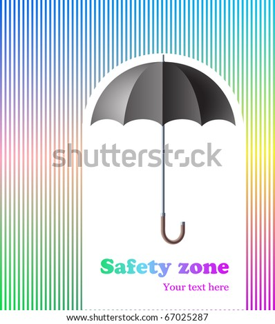 abstract background with umbrella, protection/safety zone concept - stock photo