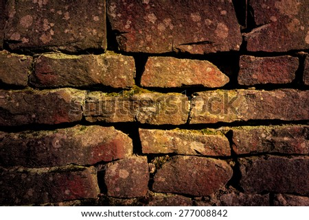 abstract background with very old brickwork - stock photo