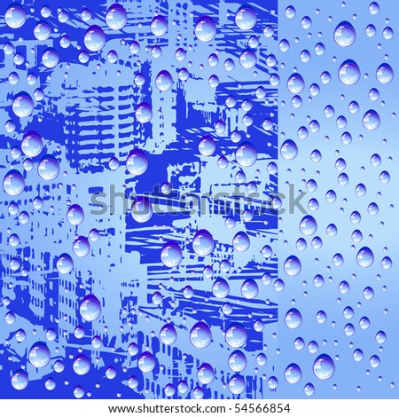 Abstract background with water drops - stock photo