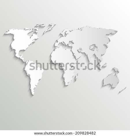 Abstract background with world map on white - vector version in portfolio - stock photo