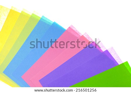 Abstract backgrounds superimposed together colors paper texture - stock photo