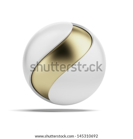 Abstract ball with wave shape - stock photo
