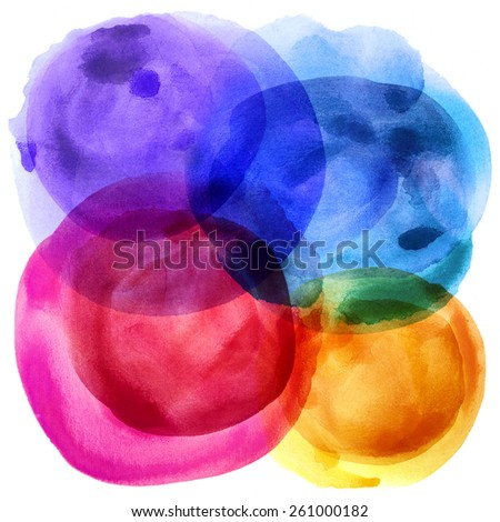 Abstract balloon paint on white paper