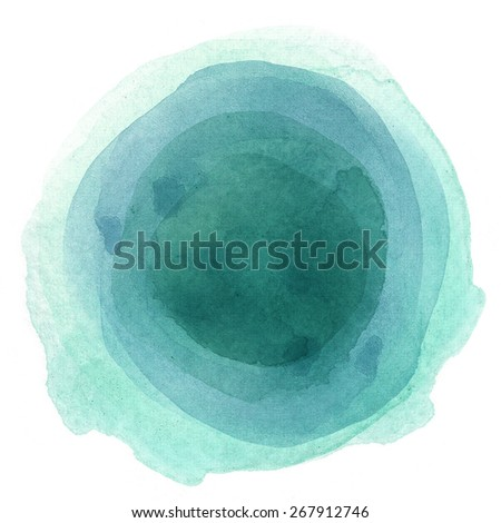 Abstract balloon watercolor paint style - stock photo