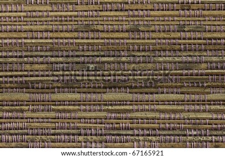 abstract Bamboo board or mat background - stock photo