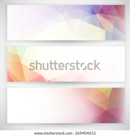 Abstract banners collection  - raster version - stock photo
