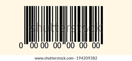 Abstract barcode security with old photo pattern - stock photo