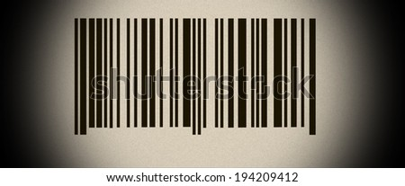 Abstract barcode security with old photo pattern and black vignette - stock photo
