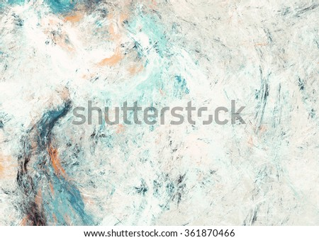 Abstract beautiful white and blue soft color background. Dynamic painting texture. Modern futuristic pattern. Fractal artwork for creative graphic design - stock photo