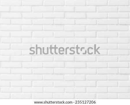 Abstract beautiful white square clay tile brick wall texture background. - stock photo